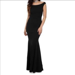 Black formal prom gala homecoming gown